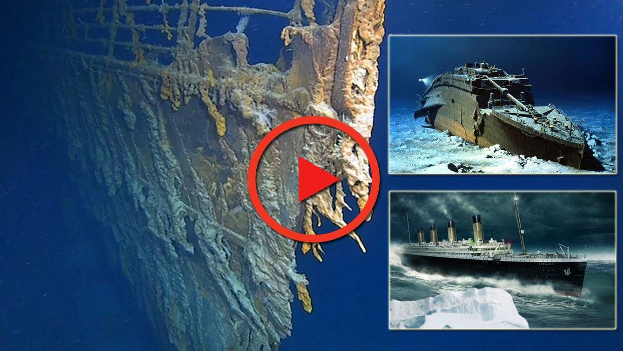 Filman en 4K los restos del mítico 'Titanic'
