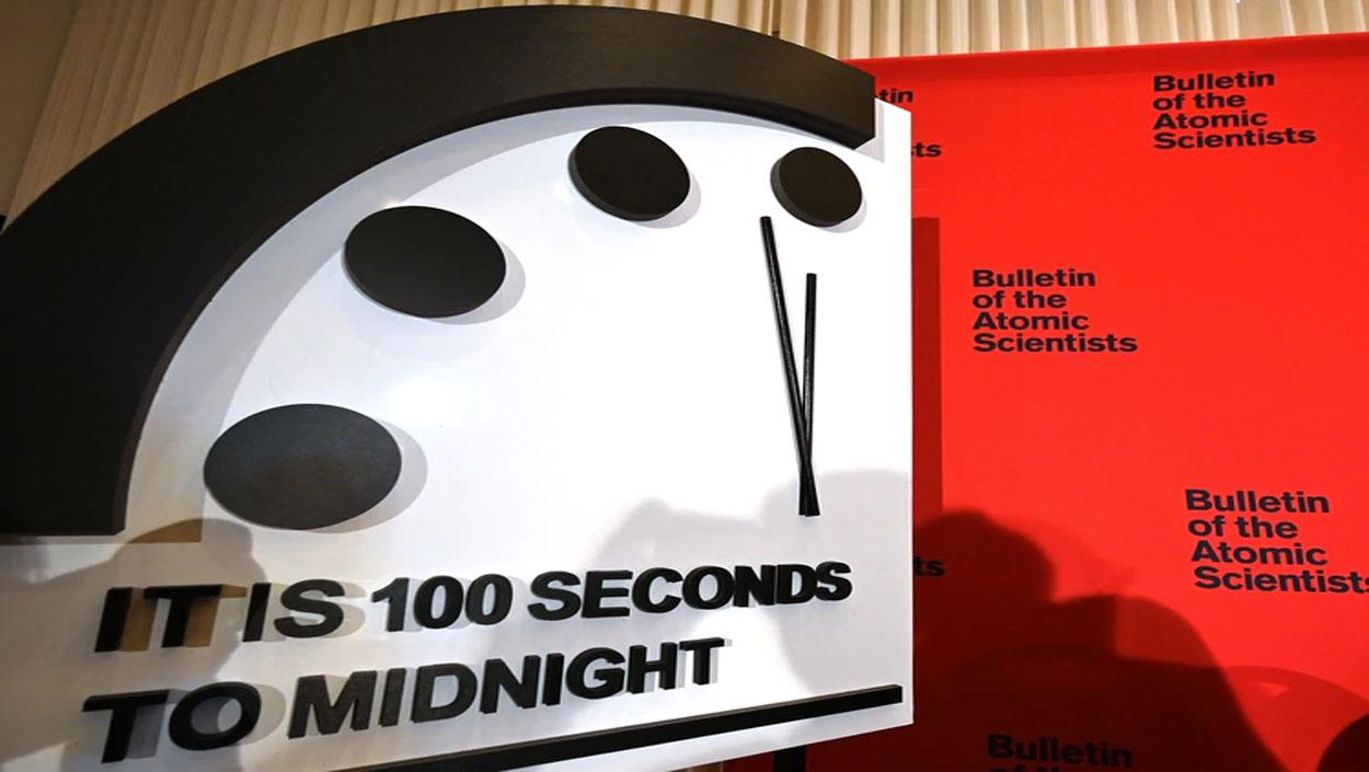 El 'Reloj del Fin del Mundo' se coloca a sólo 100 segundos del Apocalipsis